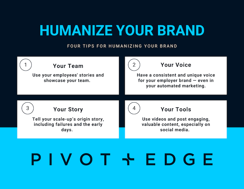 Using these four great ways to humanize your brand, you can bring in more employees by being more reachable, relatable and believable.